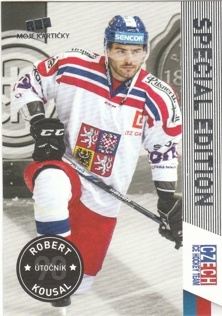 KOUSAL Robert CZECH Ice Hockey Team 2016 č. 24