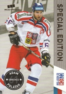POLÁŠEK Adam CZECH Ice Hockey Team 2016 č. 40 Gold /50