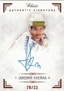 KVERKA Jaromír OFS Classic CL 2018/2019 Authentic Signature AS033 /33