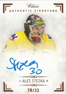 STEZKA Aleš OFS Classic CL 2018/2019 Authentic Signature AS072 /33