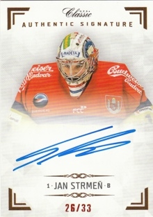 STRMEŇ Jan OFS Classic CL 2018/2019 Authentic Signature AS018 /33