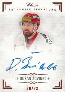 ŽOVINEC Dušan OFS Classic CL 2018/2019 Authentic Signature AS062 /33