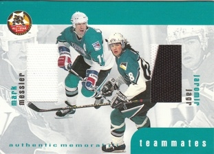 JÁGR Jaromír MESSIER Mark BAP Update 1999/2000 Teammates Jersey TM-8