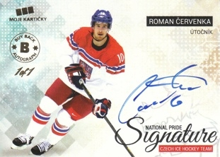 ČERVENKA Roman Czech Ice Hockey Team 2018 BuyBack Autograph NPS-RČ 1of1