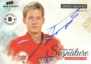 MAZANEC Marek Czech Ice Hockey Team 2018 BuyBack Autograph NPS-MM 5/9