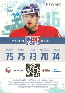 KAUT Martin Czech Ice Hockey Team 2018 č. 15 PROMO